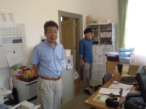 まちづくり柏原の取締役(株)土田化学の土田晃一社長と元ご近所メンバーしょーじ