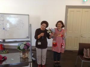 花遊美部 部長の冨美子さんと今日子さん