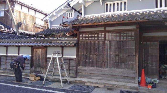 衣川邸の改修風景