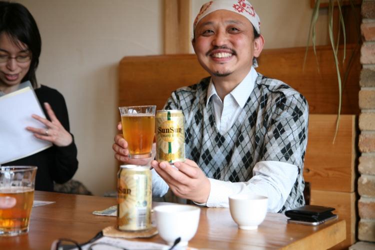 これは、オーガニックビールを飲むという勉強です。