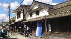 篠山市の町なみ。